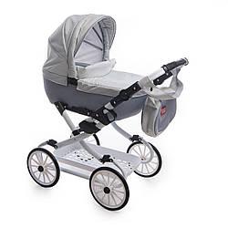 Коляска детская для куклы Broco Mini Avenu 2020 12, серая