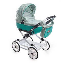 Детская коляска для куклы Broco Mini Avenu 2020, мятная