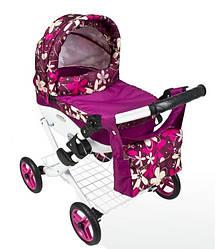 Коляска детская игрушечная для куклы Adbor Lily Lc-16, фиолетовая
