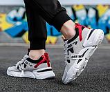Кроссовки в стиле Off-White черно-белые, фото 4