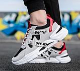 Кроссовки в стиле Off-White черно-белые, фото 5