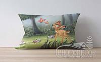 """Детская подушка с фото """"Бэмби и бабочки"""""""