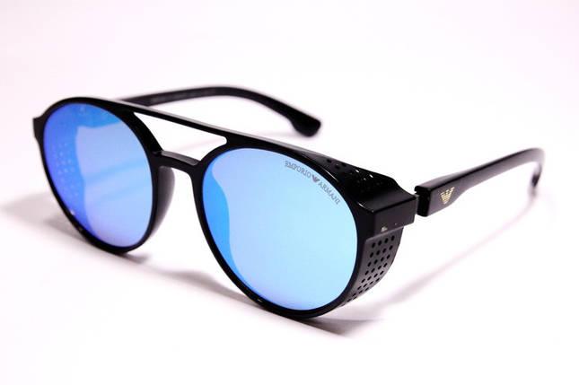 Мужские солнцезащитные очки Armani ARM 1807 C5 овальные чёрные, фото 2