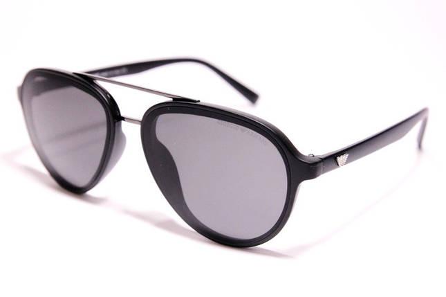 Мужские солнцезащитные очки Armani 174 C1 авиаторы черные, фото 2