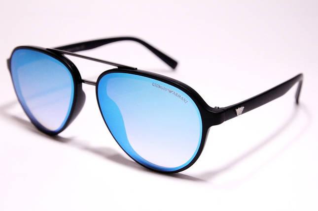 Мужские солнцезащитные очки Armani 174 C3 авиаторы голубые, фото 2