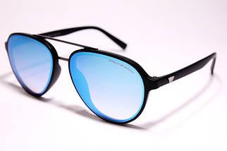 Мужские солнцезащитные очки Armani 174 C3 авиаторы голубые