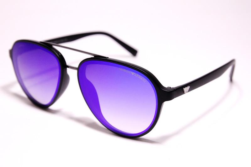 Чоловічі сонцезахисні окуляри Armani 174 C6 авіатори сині з градієнтом
