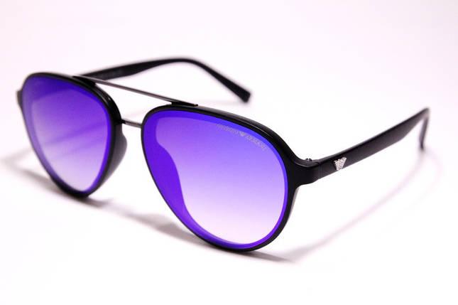 Чоловічі сонцезахисні окуляри Armani 174 C6 авіатори сині з градієнтом, фото 2