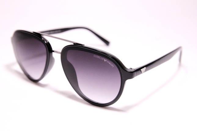 Мужские солнцезащитные очки Armani 174 C7 авиаторы черные с градиентом, фото 2