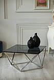 Журнальный стол CP-1 глянцевое тонированное стекло 80*80*45,5 Vetro Mebel, фото 8