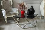 Журнальный стол CP-1 глянцевое тонированное стекло 80*80*45,5 Vetro Mebel, фото 10