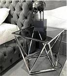 Журнальный стол CP-2 глянцевое тонированное стекло 50*50*53 Vetro Mebel, фото 3
