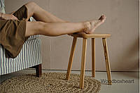 Деревянный кухонный табурет стул в стиле Лофт