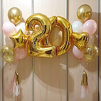 Две связки из семи шаров плюс две цифры