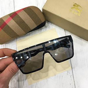 Женские солнцезащитные очки маска Burberry черные