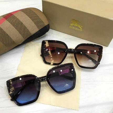 Жіночі сонцезахисні окуляри Burberry репліка коричневі, фото 2