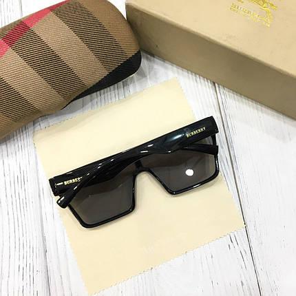 Женские солнцезащитные очки маска Burberry черные, фото 2