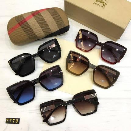 Женские солнцезащитные очки Burberry реплика красные, фото 2