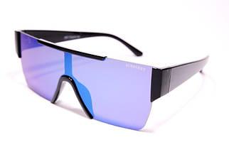 Солнцезащитные женские очки маска Burberry 8087 C5 реплика Голубые