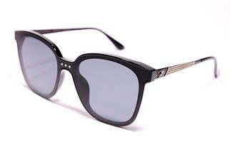 Солнцезащитные овальные женские очки Burberry 9106 C1 реплика Черные