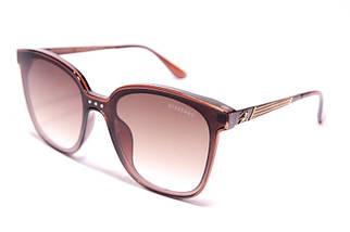 Солнцезащитные овальные женские очки Burberry 9106 C2 реплика Коричневые с градиентом