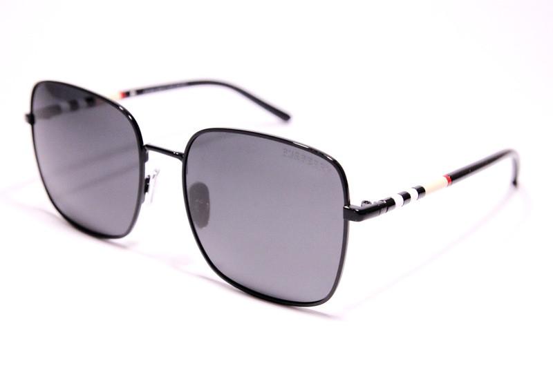 Солнцезащитные женские очки Burberry P31402 C1 реплика с поляризацией Черные