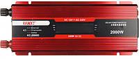 Инвертор авто преобразователь напряжения c LCD экраном и USB 12V в 220V AR 2000 Вт UKC KC-2000D