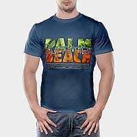 Мужская футболка, размер M, темно-серого цвета бесшовная 100% хлопок