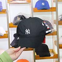 Кепка Бейсболка New York Yankees NY MLB  Нью-Йорк Янкиз Микки с боку Черная