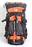 Туристический рюкзак The North Face на 60 литров красный + чехол дощовик, фото 7