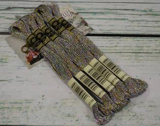 Нитки для вышивки мулине Royal Broderie металлик (люрекс)