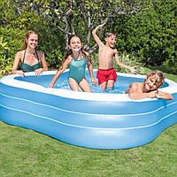 Детский надувной бассейн Intex 57495 «Семейный», голубой, 229 х 229 х 56 см