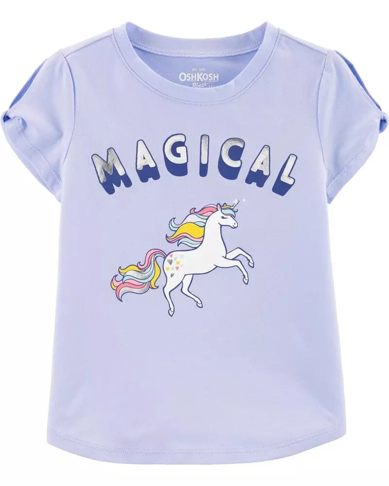 Гарна трикотажна футболка Єдиноріг ОшКош для дівчинки
