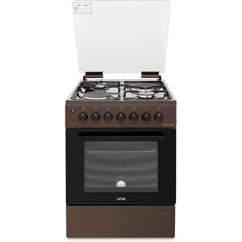 Плита комбинированная ARTEL Dolce 01-ЕX коричневая (60*60,2+2,розжиг, газконтроль, гриль,подсветка)