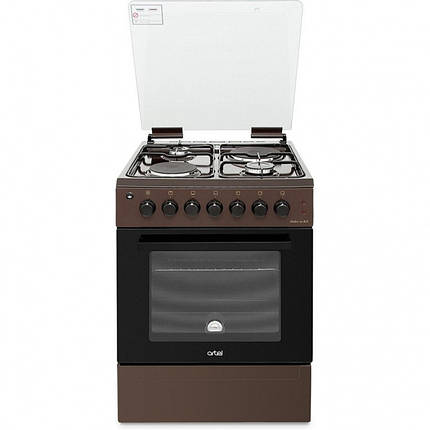 Плита комбинированная ARTEL Dolce 01-ЕX коричневая (60*60,2+2,розжиг, газконтроль, гриль,подсветка), фото 2