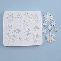 Силиконовый молд Набор снежинок, 8.5х9.5 см
