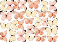 "Вафельная картинка ""Бабочки-11"" А4, 20х30 см"