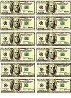 "Вафельная картинка ""Доллары США-1"" А4, 20х30 см"