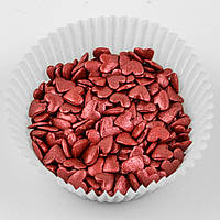 Посыпка кондитерская Сердечки красные перламутровые 50 гр Украса