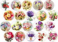 """Вафельная картинка """"Цветы. Винтаж"""" А4, 20х30 см"""
