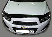 Дефлектор капота (мухобойка) Chevrolet AVEO, 12-, темный