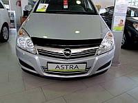 Дефлектор капота (мухобойка) OPEL Astra H2004-