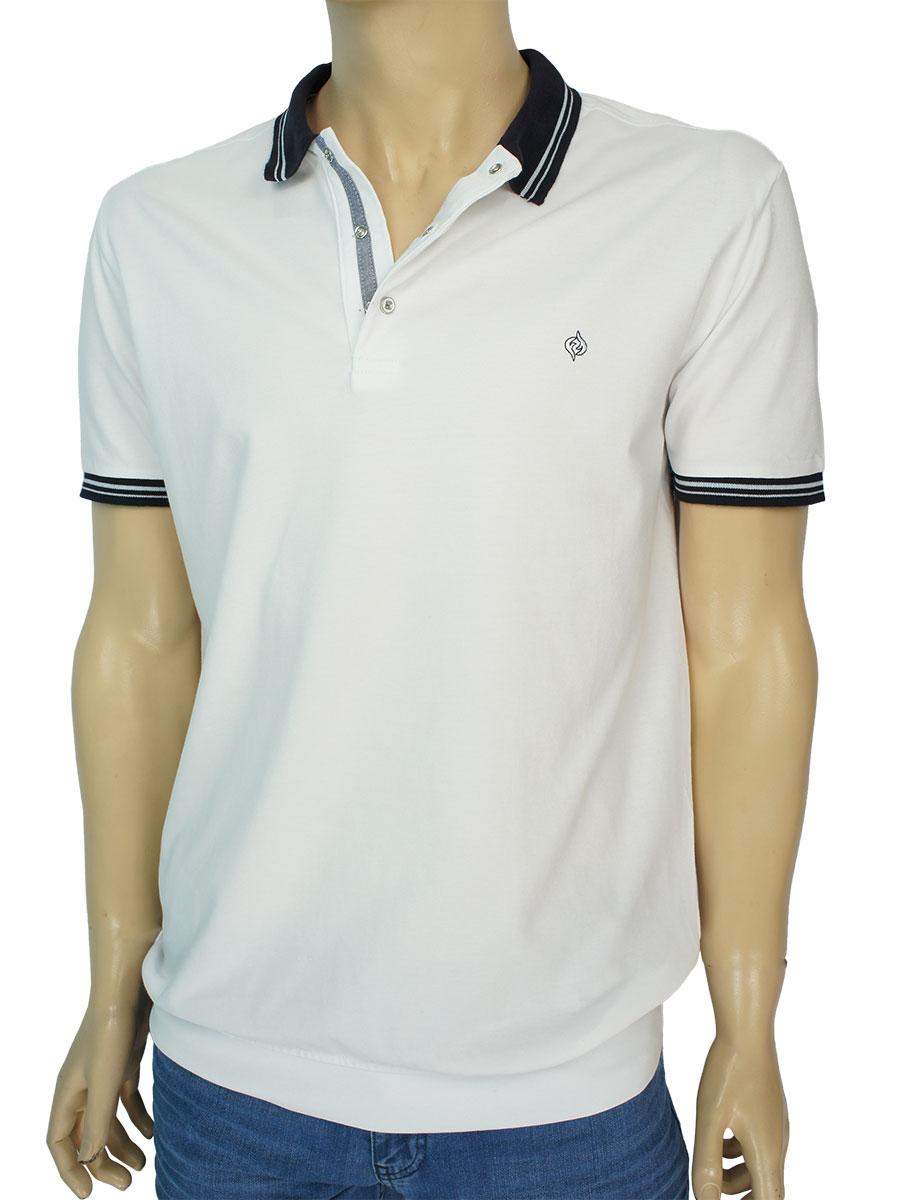 Турецкая мужская тенниска Fabiani 3633 White белого цвета