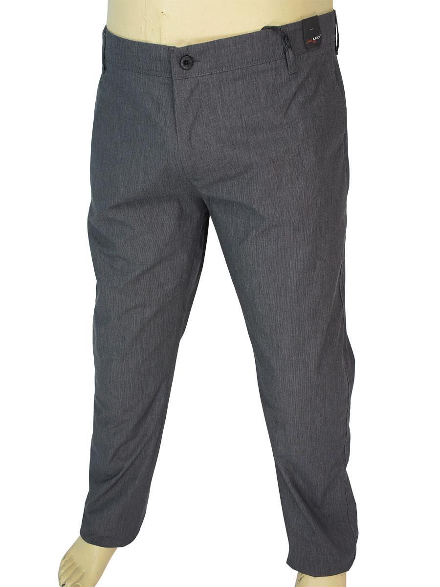 Турецкие мужские джинсы  X-Foot 180-7116 C-2 темно-серого цвета в большом размере