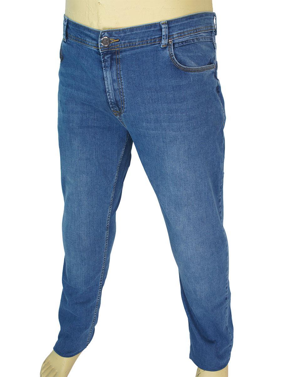 Мужские качественные джинсы X-Foot 140-2526 C-Blue в большом размере