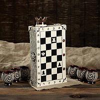 Штоф Шахматы в наборе с рюмками - подарочный набор для спиртного