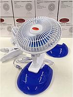 Вентилятор 2в1 в авто с прищепкой и подставкой портативный WIMPEX WX-605