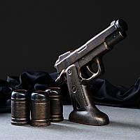 """Штоф пистолет """"Пустынный Орел"""" - набор для спиртного, бутылка с рюмками, Дигл, Магнум"""