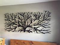 Декоративное Панно из дерева в трех частях, Деревянная картина Дерево, Картина из дерева