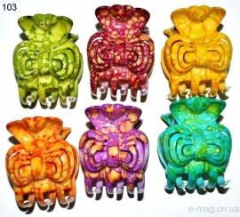Крабик меланж разноцветный мелкий 103